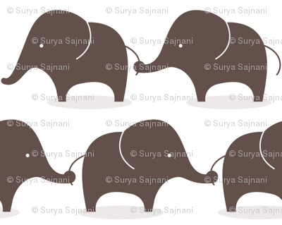 Mod elephants grey