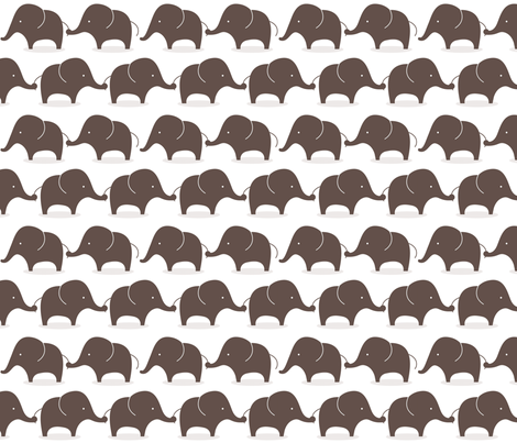 Mod elephants grey fabric by suryasajnani on Spoonflower - custom fabric