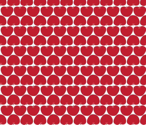 Mod Apples Red fabric by suryasajnani on Spoonflower - custom fabric