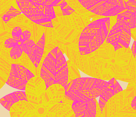 Geo_Floral_yellow fabric by aimeesthill on Spoonflower - custom fabric