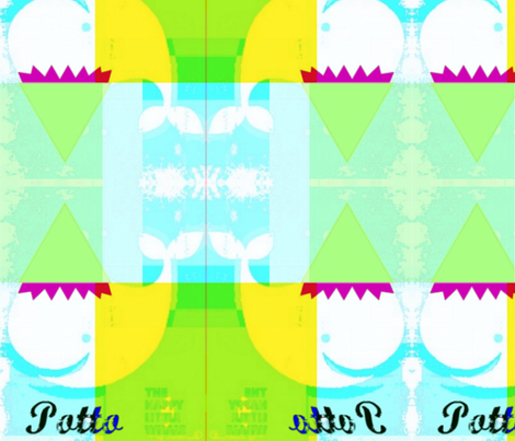 Happy Little Whale Potto  by evandecraats, 21, June 2012-ed fabric by _vandecraats on Spoonflower - custom fabric