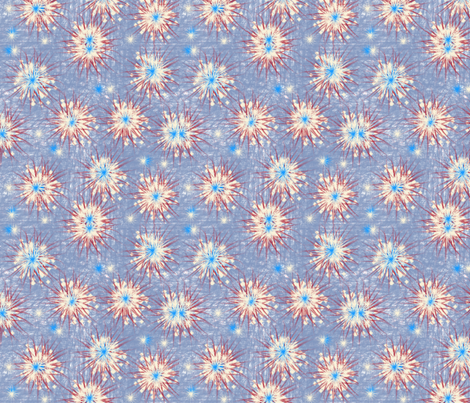 Stars And Stripes Bright Fireworks, ATD 509 fabric by arttreedesigns on Spoonflower - custom fabric