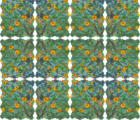 Sunflowers in the Garden fabric by anniedeb on Spoonflower - custom fabric