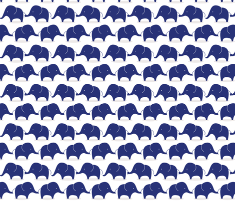 Mod Elephants Indigo fabric by suryasajnani on Spoonflower - custom fabric