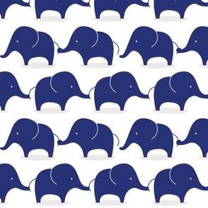 Mod Elephants Indigo