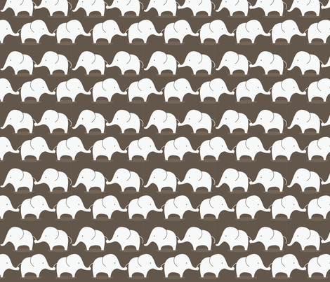 Mod Elephants on Grey fabric by suryasajnani on Spoonflower - custom fabric