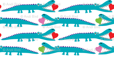 Alligator Love aqua - small