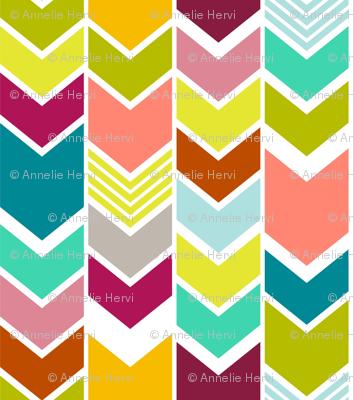 Mod Multicolor Chevron