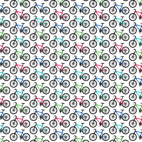 Mountain Bike Multi tiny fabric by andibird on Spoonflower - custom fabric