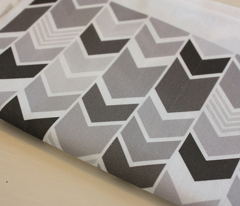Monochrome Chevron small scale