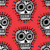 Sugar Skull - red