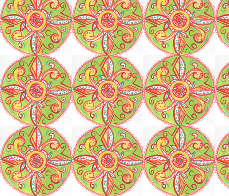 spanish_circles fabric by chelseaelizabeth on Spoonflower - custom fabric