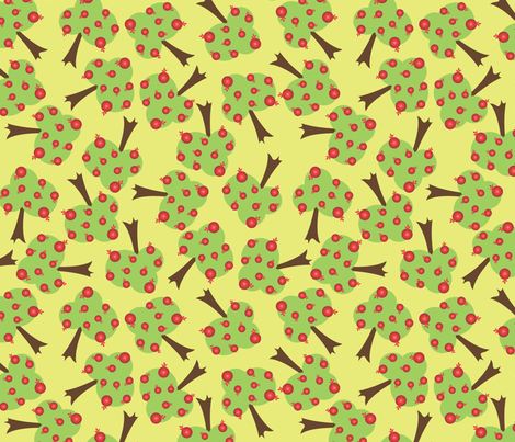 Pomegranate Orchard fabric by bojudesigns on Spoonflower - custom fabric