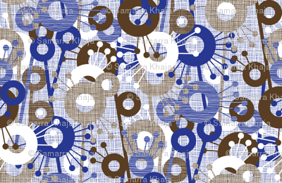 Sticks & Spots, Stripes & Dots: Cobalt Brown