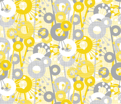 Sticks & Spots, Stripes & Dots: Lemon Pewter fabric by sammyk on Spoonflower - custom fabric