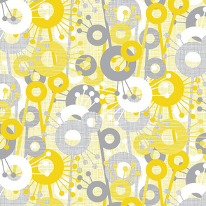 Sticks & Spots, Stripes & Dots: Lemon Pewter