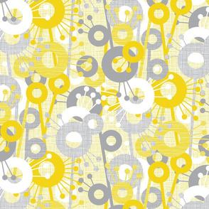 Sticks & Spots, Stripes & Dots: Lemon Pewter
