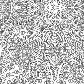 Engraving Paisley