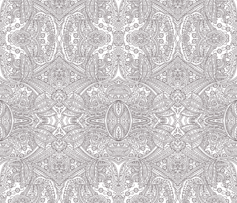 Engraving Paisley plum fabric by flyingfish on Spoonflower - custom fabric