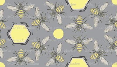 Beneficial Bumblebees & Hexagonal Honeycombs - Light