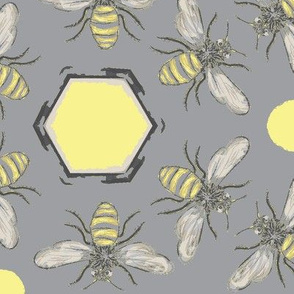 Beneficial Bumblebees & Hexagonal Honeycombs - Light