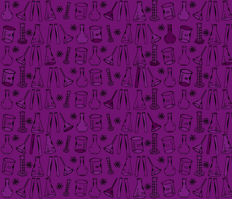 Chemistry Lab Purple fabric by nocodazole on Spoonflower - custom fabric