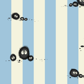 Totoro soot sprites stripe