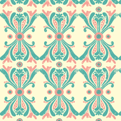 Brocade - Blue & Pink