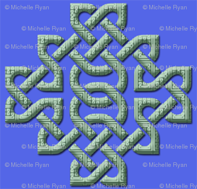 Celtic Knotwork Blue small