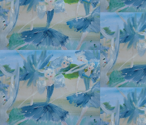 Magical harp ballet fabric by myartself on Spoonflower - custom fabric