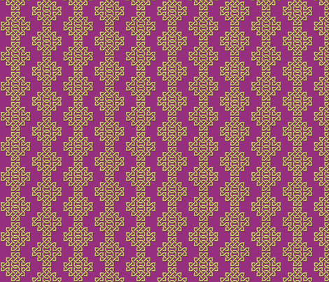 Celtic Knotwork - Purple small fabric by nezumiworld on Spoonflower - custom fabric