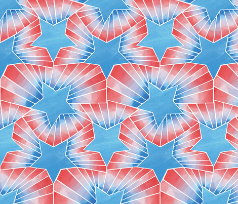Star and Stripes fabric by wildnotions on Spoonflower - custom fabric
