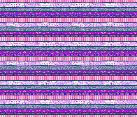 Zig-Zaggy Kids: Stripe Coordinate fabric by tallulahdahling on Spoonflower - custom fabric