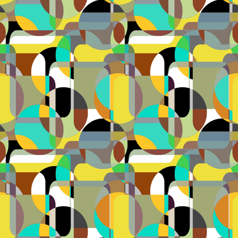 Danish Mod Turquoise fabric by joanmclemore on Spoonflower - custom fabric