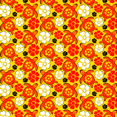 Turtle in Oranges (#27) fabric by coloroncloth on Spoonflower - custom fabric