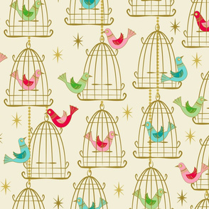 Vintage Bird Cages and Stars