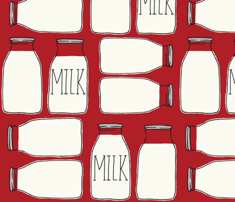 milk_MILK_milk fabric by stacyiesthsu on Spoonflower - custom fabric