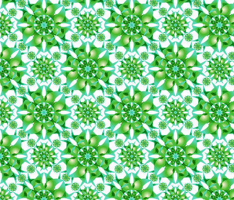 Green_Flower_Mandala fabric by lavaflowzzz on Spoonflower - custom fabric