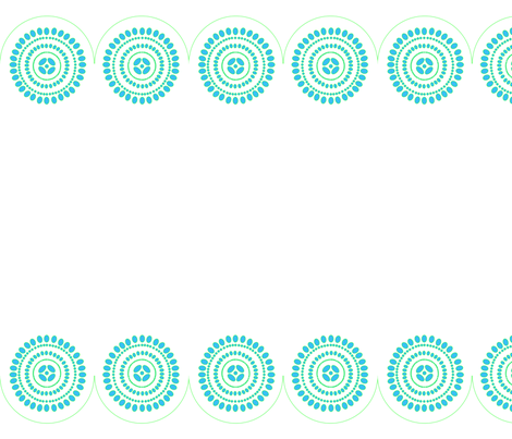 lace-border-turquoise fabric by creating_marks on Spoonflower - custom fabric