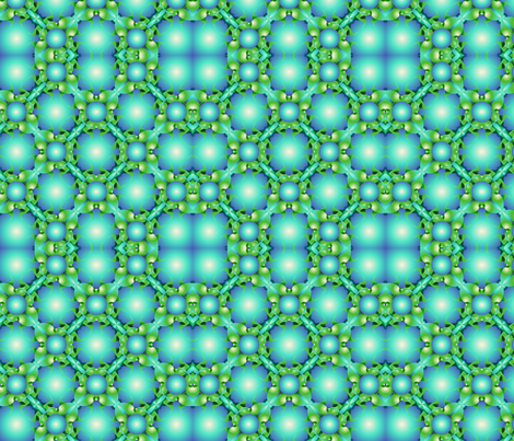 Green_turquoise_bubbles fabric by lavaflowzzz on Spoonflower - custom fabric