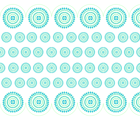 lace-border-turquoise3 fabric by creating_marks on Spoonflower - custom fabric