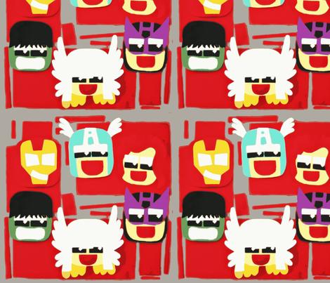 Avengers fabric by allgeek on Spoonflower - custom fabric