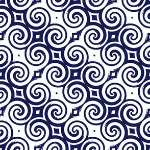 Upton Spiral navy