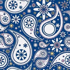 Paisley Garden blue