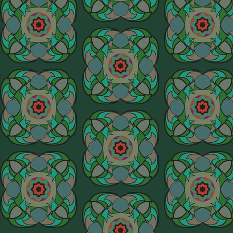 Harlequin Night (Greens) fabric by david_kent_collections on Spoonflower - custom fabric