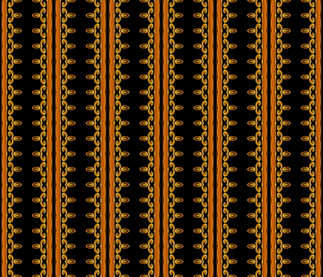 Jeweled_Medallions_gold_stripe fabric by needlesongs on Spoonflower - custom fabric