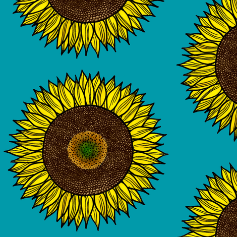 Sunflower fabric by autumn_street on Spoonflower - custom fabric