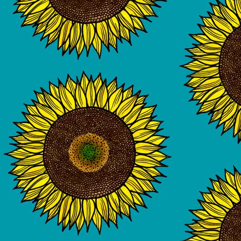 Sunflower fabric by autumn_street on Spoonflower - custom fabric
