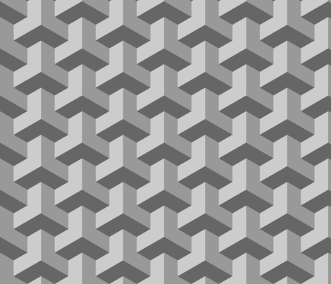 chevron 3 interlock fabric by sef on Spoonflower - custom fabric