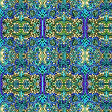 Art Nouveau World fabric by edsel2084 on Spoonflower - custom fabric